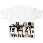 yukaのとーとつにエジプト神 ぐるっとぎゅっと12柱 Full graphic T-shirtsの背面
