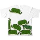 Dragon's Gateグッズの積みタピオカガエルTシャツ Full graphic T-shirtsの背面