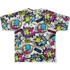 バニラde高収入ショップ[SUZURI店]のMONEY♥BOMB Full Graphic T-Shirtの背面