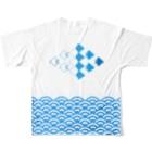 ネブカプロの波千鳥 All-Over Print T-Shirtの背面