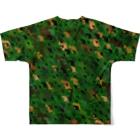 ニャムのアトリエのNEKOZE迷彩(2)ロゴ無し Full graphic T-shirtsの背面