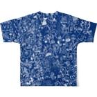 P4Uの思い巡り-Tシャツ-青 フルグラフィックTシャツ