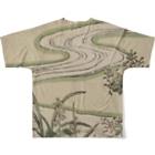 松や SUZURI店の今だけ値下げ中! 鈴木春信「風流艶色真似ゑもん」 Full graphic T-shirtsの背面