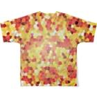 SHUNZO 1号店【DEEP&CORE】のHealing mosaic Full graphic T-shirtsの背面