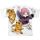 かわいい尻子玉のアニマルダッシュ Full graphic T-shirtsの背面