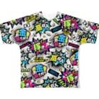 バニラde高収入ショップ[SUZURI店]のMONEY♥BOMB Full Graphic T-Shirt