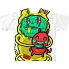HUGオフォシャルショップのI Wanna Be Your Partner Full graphic T-shirts