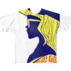キューカンバー・ガールのキューカンバー・ガール(GoGo) Full graphic T-shirts