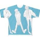 て°ゃ°の男女 Full graphic T-shirts