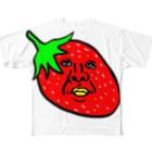 うめもと公式のイチゴのかずや 横向き Full graphic T-shirts