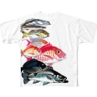 MUSEUM LAB SHOP MITのお魚をまとうTシャツ*ウワモノ Full Graphic T-Shirt
