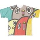 れて=レパプのインコインコ Full graphic T-shirts