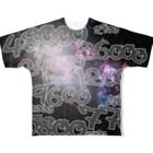 wlmのPOINTS OYABAN galaxy Full graphic T-shirts