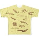 あとりえ・おすとらの有尾類の博物画 Full graphic T-shirts