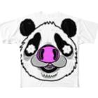 HUGオフォシャルショップのPnadrew Big Face Full graphic T-shirts