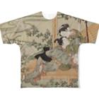 松や SUZURI店の今だけ値下げ中! 鈴木春信「風流艶色真似ゑもん」 Full graphic T-shirts