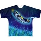 シリウスの匣の銀河鉄道のセスジスズメ Full graphic T-shirts