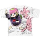 かわいい尻子玉のアニマルダッシュ Full graphic T-shirts