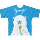 minchのYummy ソフトクリーム Full graphic T-shirts