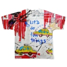DoiMayumiのPOP ART(To time traveling) Full graphic T-shirtsの背面