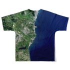 WEAR YOU AREの茨城県 ひたちなか市 Tシャツ 両面 Full graphic T-shirtsの背面