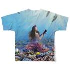 TOYOGON沖縄の琉球人魚FGTシャツ Full graphic T-shirtsの背面