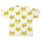 喫茶こぐまやの北欧風にゃんこ 黄色 Full graphic T-shirtsの背面