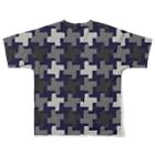 ゴータ・ワイの千鳥格子 迷彩中柄(前後2面プリント)  Full graphic T-shirtsの背面