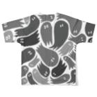 wakame.monsterのおばグレー Full graphic T-shirtsの背面
