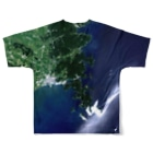 WEAR YOU AREの宮城県 牡鹿郡 Tシャツ 両面 Full graphic T-shirtsの背面