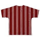Likely Lads & Co.のレトロなストライプ Full graphic T-shirtsの背面