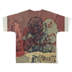 Tomoharu MitsudairaのDogs Full graphic T-shirtsの背面