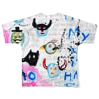DoiMayumiのPOP ART(HAPPY END) Full graphic T-shirtsの背面