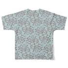 nemunoki paper itemの水玉海洋生物 イイダコ All-Over Print T-Shirtの背面