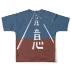 しまのなかまfromIRIOMOTEの40km/h+ネコ注意 両面(イソヒヨドリ色) Full graphic T-shirtsの背面