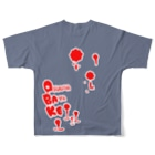 えいくらの祝いの Full graphic T-shirtsの背面