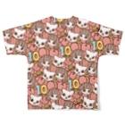 PetWORKs SUZURI Shopのでこニキ10th Full graphic T-shirtsの背面