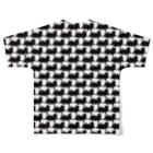 Japan-Joyful-Journeyの汽車を並べたらオシャレな柄になった Full Graphic T-Shirtの背面