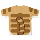 現役デザイナーが作る気ままショップの猫になれるTシャツ(キジトラver) Full graphic T-shirtsの背面