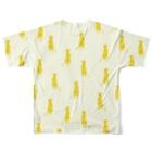 WAZAWAZAのミーアキャット Full graphic T-shirtsの背面