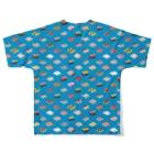 猫と釣り人のSUSHI_CB_FGT Full graphic T-shirtsの背面