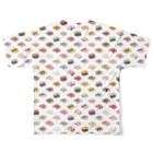 猫と釣り人のSUSHI_C_FGT Full graphic T-shirtsの背面
