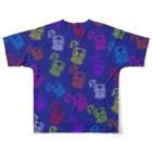 歌うバルーンパフォーマMIHARU✨〜あいことばは『笑顔の魔法』〜😍🎈の10周年記念Tシャツ💙ミハビエ💙 Full graphic T-shirtsの背面