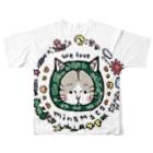 ほっかむねこ屋@7/22.23 HMJ出展しますの〜からくさねこ〜 we love minamataフルグラフィックTシャツ