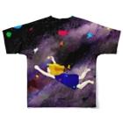 Aibotoshのまこちゃん宇宙旅行 Full graphic T-shirtsの背面