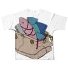 ショッピーのアイテムの鞄金魚フルグラフィックTシャツ