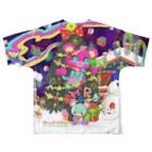 Radio Like hmm...のクリスマスツリーフルグラフィックTシャツ