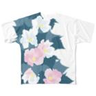日下田の酔芙蓉 Full graphic T-shirts