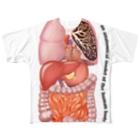 I_drink_milkteaの人体臓器デザイン Full graphic T-shirts