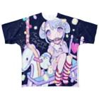 きあとのMarshmallow macchiato+. Full graphic T-shirts